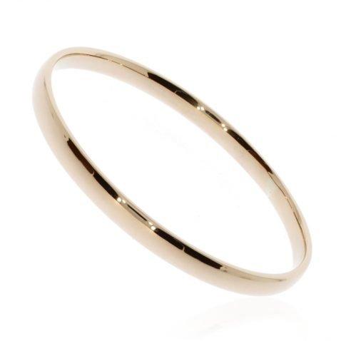 9ct Gold Bangle by Heidi Kjeldsen Jewellers BL1266 Side