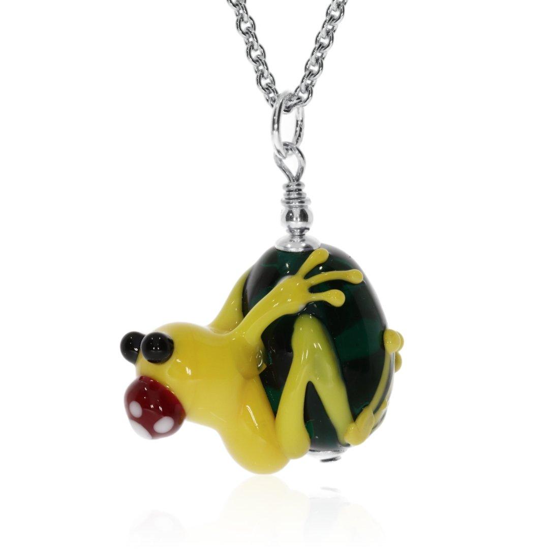 Frog Pendant By Heidi Kjeldsen Jewellery P1479 Side