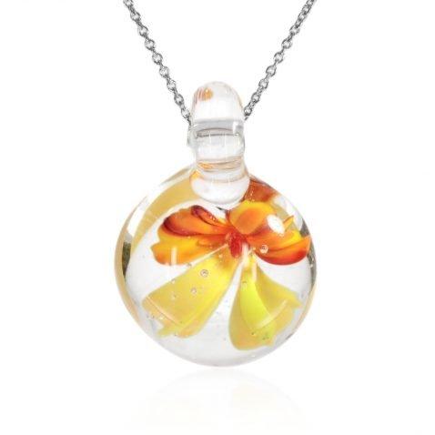 Floral Glass Pendant By Heidi Kjeldsen Jewellery P1264 Front