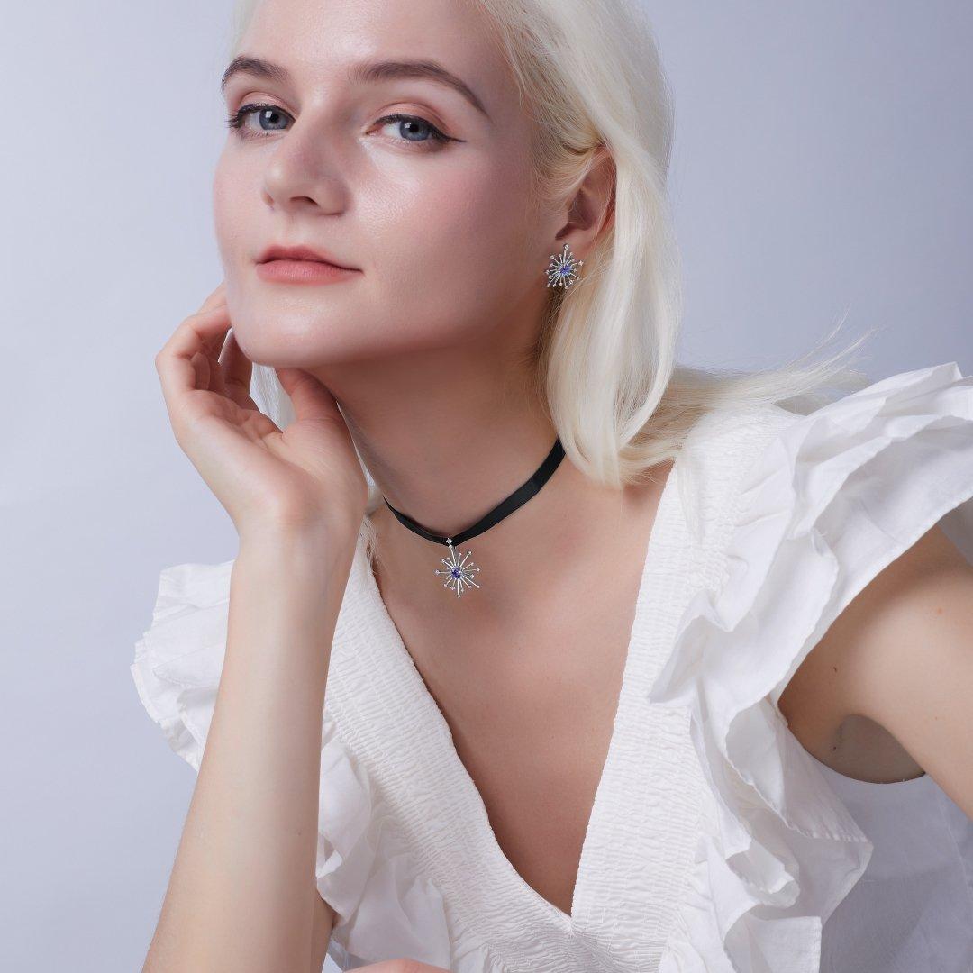 Fei Liu Carpe Diem Collection Heidi Kjeldsen Jewellery Sparkler Earrings ER2592 Model