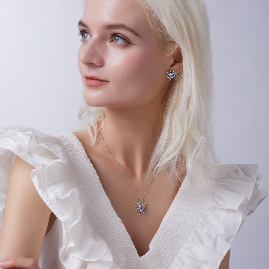 Fei Liu Carpe Diem Collection Heidi Kjeldsen Jewellery Sparkler Earrings ER2592 Model 2