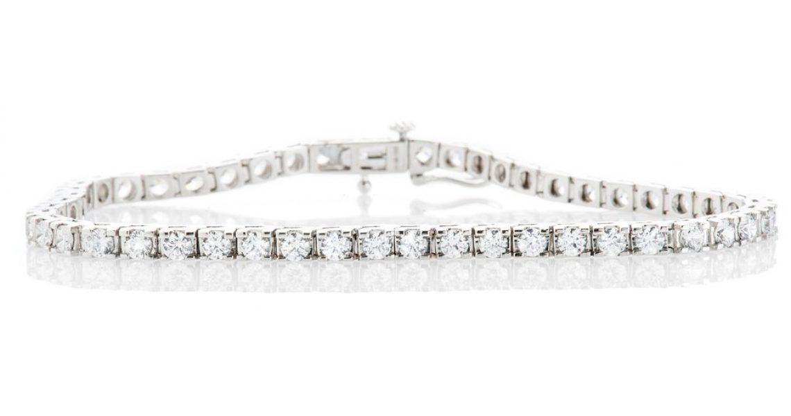 Heidi Kjeldsen Exquisite Diamond 5.00cts 18ct White Gold Tennis Bracelet